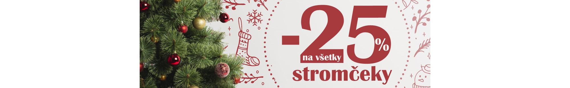 Vianočné stromčeky -25%