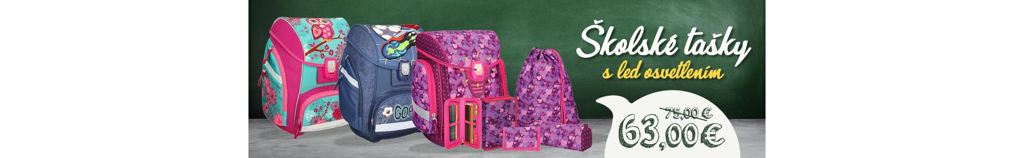 AKCIA! Školské tašky s LED osvetlením
