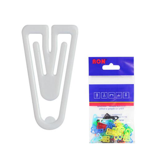 Listové spony plastové 621, tvar V, 21 mm (10ks)