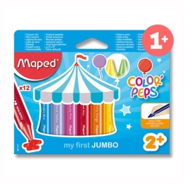 "Voskovky trojhranné MAPED Jumbo ""COLOR`PEPS"", 12 ks"
