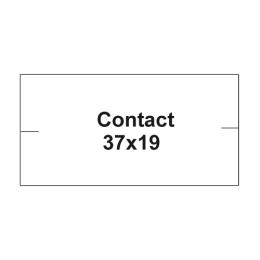 Etikety cen. CONTACT 37x19 hranaté - 1000 etikiet/kotúčik, biele