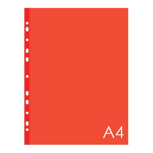 Euroobal A4 40 µm farebný - červený, lesklý 100 ks
