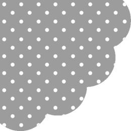 Obrúsky PAW R 32 cm Dots Grey