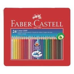 Pastelky Faber-Castell Grip 1001 24 far. v plechu