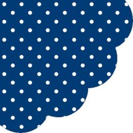 Obrúsky PAW R 32 cm Dots Dark Blue