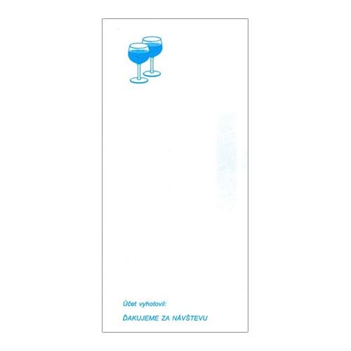 Čašnícka účtenka s potlačou 7x15 cm (004)