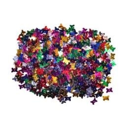 Dekorácia motýle mix farieb 11 mm 14 g