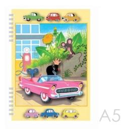 Zápisník A5 Akim s 3D aplikáciou - Krtko
