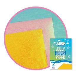 Dekoračný papier A4 žltý reliéfny perleťový 60 g, sada 10 ks
