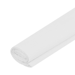 Krepový papier JUNIOR - biely 01