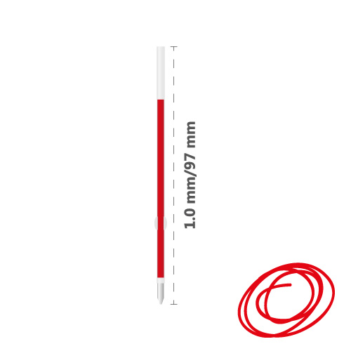Náplň guľôčková MILAN Capsule 1,0 mm - červená