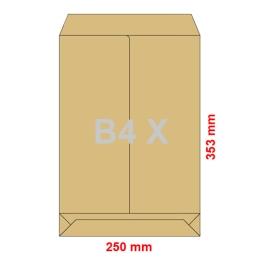 Obálky B4 X  250x353 mm dno tašky hnedé, 5 ks - nie sú samolepiace