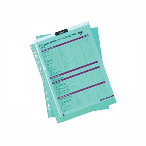 Euroobal A4 50 µm farebný - modrý, lesklý 100 ks