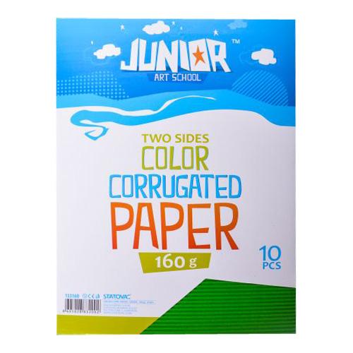 Dekoračný papier A4 vlnkový zelený 160 g, sada 10 ks