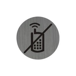 Piktogram 7,5 cm - Zákaz používania mobilných telefónov