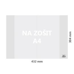 Obal na zošit A4 PVC 432x304 mm, hrubý/transparentný, 100 ks