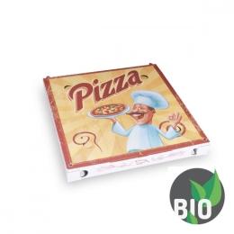 Krabica na pizzu z vlnitej lepenky 30 x 30 x 3 cm, 100 ks