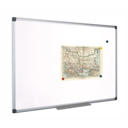 Biela, magnetická, utierateľná tabuľa, hliníkový rám, 100 x 150 cm