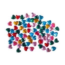 Dekoračné kamienky srdiečka mix farieb, sada 200 ks