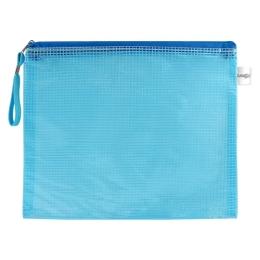 Sieťovaná obálka so zipsom PVC/A4, modrá