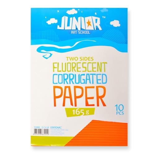 Dekoračný papier A4 Neon oranžový vlnkový 160 g, sada 10 ks