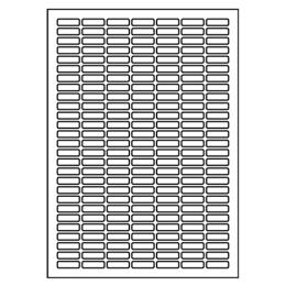 Etikety PRINT A4/100 ks, 25,4x10 - 189 etikiet, biele