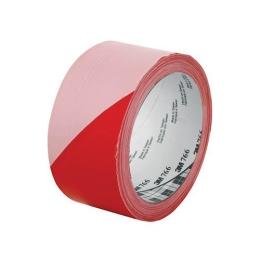 Priemyselná páska, červeno-biela, 50mm x 33m