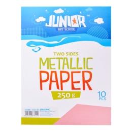 Dekoračný papier A4 ružový metallic 250 g, sada 10 ks