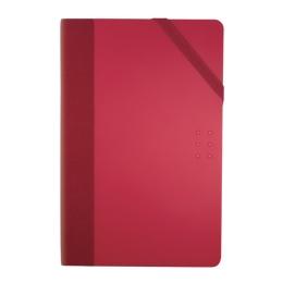 Zápisník čistý MILAN 21x14 cm červený