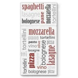 Vrecká na príbory PAW AIRLAID 40x40cm Italian Food Bordeaux