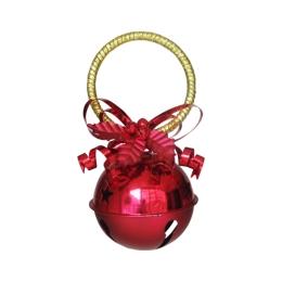 Dekorácia závesná - Rolnička červená 10 cm, 1ks