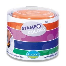 Pečiatkové podušky farebné - Karneval 4 ks