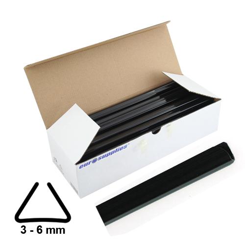Násuvné lišty Relido 3-6 mm čierne