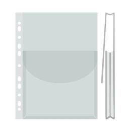 Euroobal na katalógy s chlopňou (bal.12ks) A4, 170 mikr., číry,  27 mm, DONAU