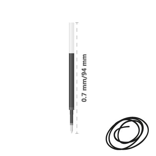 Náplň gélová MILAN Gel Touch 0,7 mm - čierna