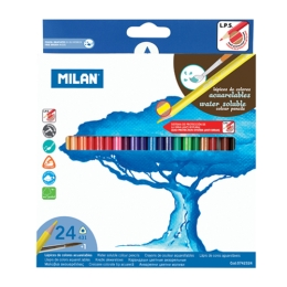 Box 24 water soluble coloured pencils MILAN