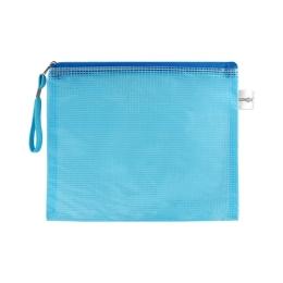 Sieťovaná obálka so zipsom PVC/A5, modrá