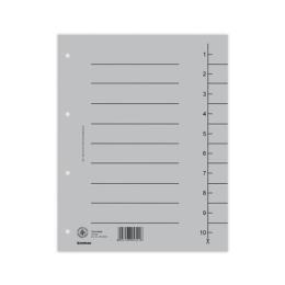 Rozraďovač kartónový A4 sivý
