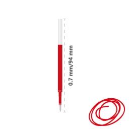 Náplň gélová MILAN Gel Touch 0,7 mm - červená