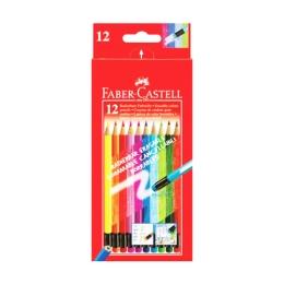 Pastelky Faber-Castell gumovateľné 12 farieb
