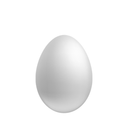 Vajíčko polystyrénové 15 cm /1 ks
