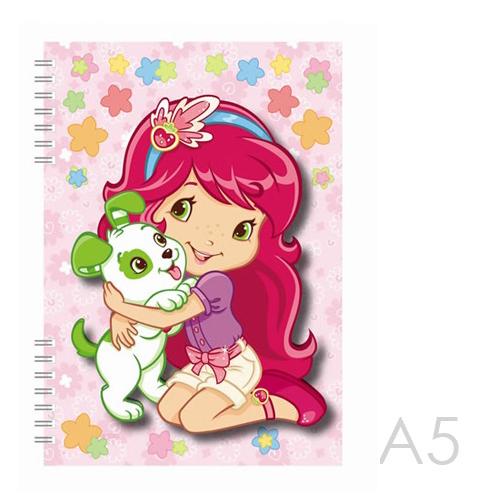 Zápisník A5 Akim s 3D aplikáciou - Strawberry