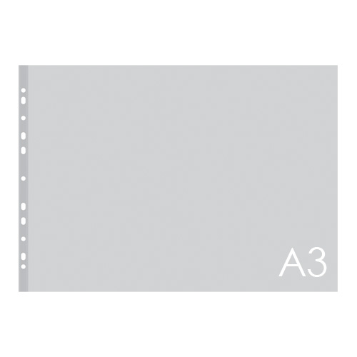Euroobal A3 80 µm, transparentný, matný bal/50ks