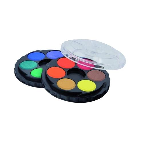 Farby vodové KOH-I-NOOR okrúhle, sada 12 ks