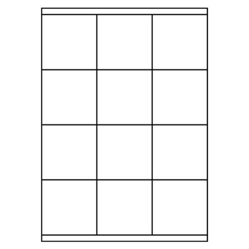 Etikety PRINT A4/100 ks, 70x67,7 - 12 etikiet, biele