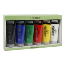 Farby akrylové 6 ks x 75 ml