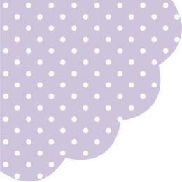 Obrúsky PAW R 32 cm Dots Violet