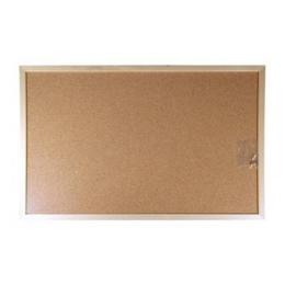Korková tabuľa v drevenom ráme 60 x 90 cm