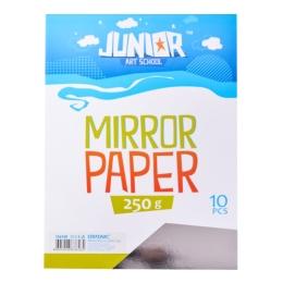 Dekoračný papier A4 10 ks strieborný lesklý 250 g
