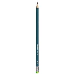Ceruzka grafitová HB STABILO s gumou - zelená